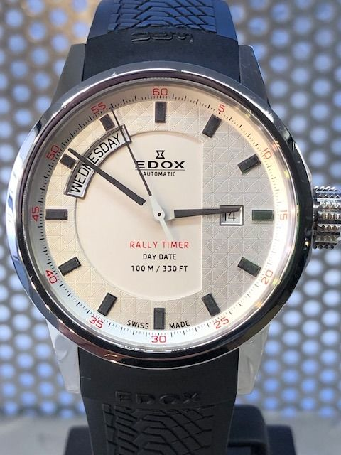 Edox - WRC Rally Timer Day Date -  83008 - Men - 2011-present