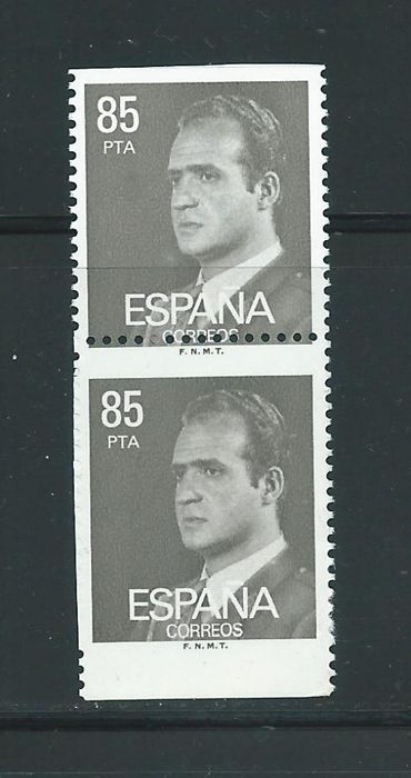 Spagna 1981 - Juan Carlos without partially imperforated + variety Graus cert. - Edifil 2604s+ 2604dh