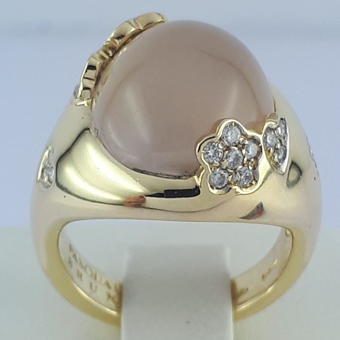 Pasquale Bruni - 18 karaat - Moon Stone & Diamond Ring
