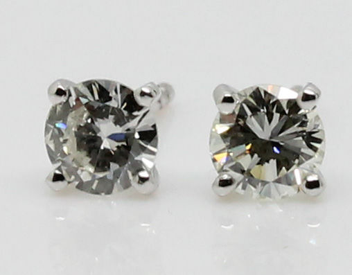 18 kt. - Earrings - 0.88 ct Diamond - VVS