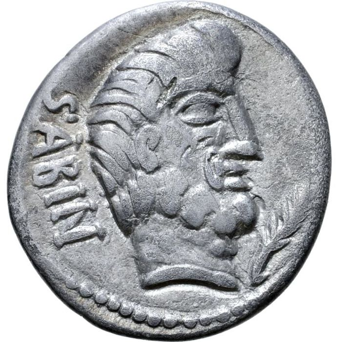 Roman Republic - Denarius - Q. Titus. Rome, 89 B.C. Rape of the Sabine women - Silver