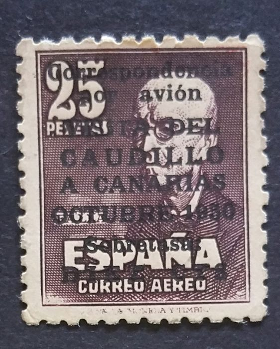 Spain 1951 - 'Visita del Caudillo a Canarias' (Visit of Franco to the Canary Islands) - Edifil 1090
