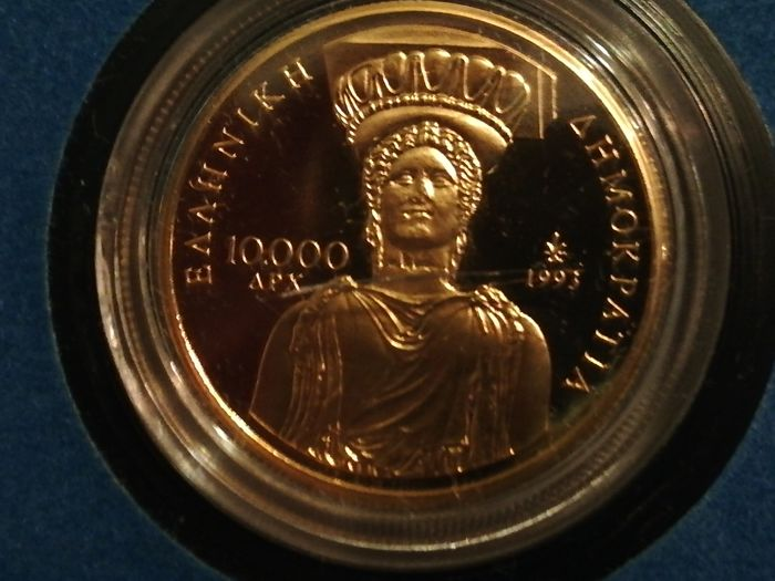 Greece - 10.000 Drachma 1993 2500th Anniversary of Democracy'  - Gold