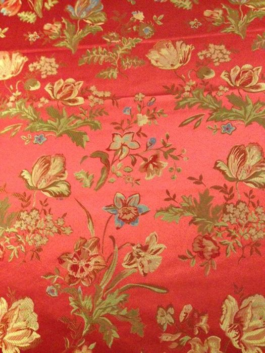 Damask fabric san leucio - 2.9x2.7 m - Cotton, Resin/Polyester - Second half 20th century