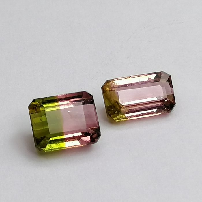 2 pcs Watermelon Turmalina - 2.28 ct