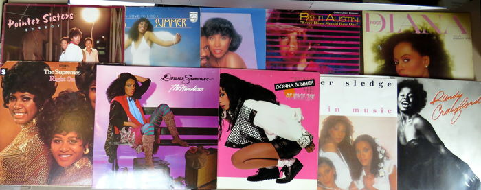 Donna Summer Pointer Sisters Diana Ross Ao Multiple Artists 10 X