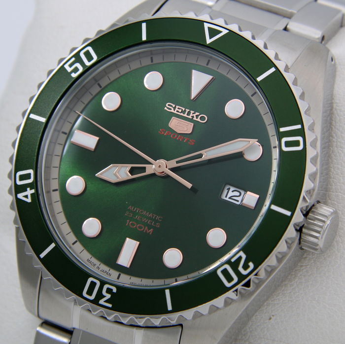 "Seiko - Automatic 23 Jewels ""Green Dial"" - - ""NO RESERVE PRICE"" - - Herren - 2018"