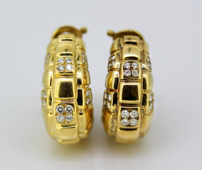 Asprey & Co - 18 quilates Oro amarillo - Pendientes Diamante