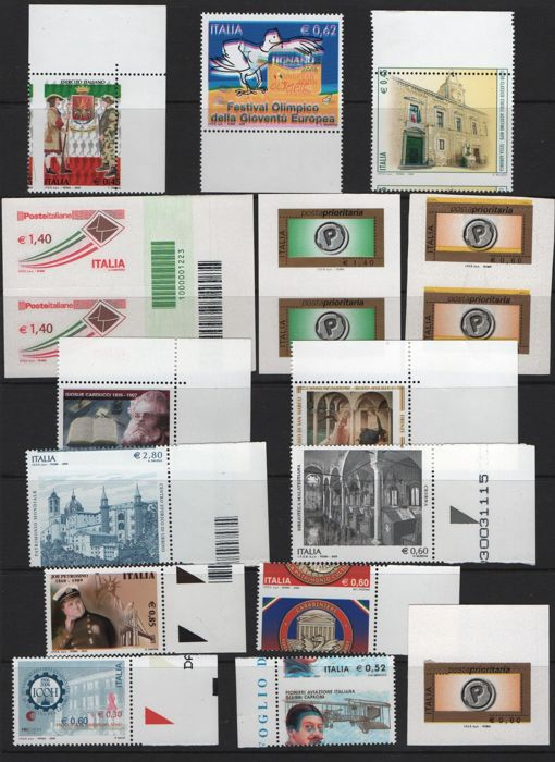 Italy Republic 2004/2009 - Lot of varieties of the period - Sassone