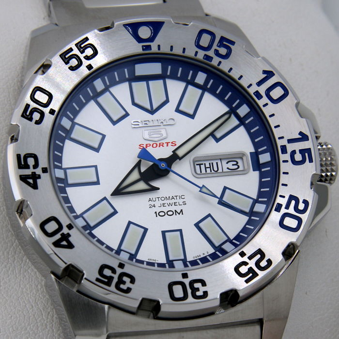 "Seiko - Automatic 24 Jewels ""Ice - Blue Dial"" - ""NO RESERVE PRICE"" - Homem - 2018"