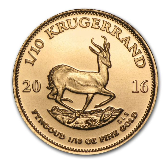 South Africa - 1/10 Krugerrand 2016 - 1/10 oz - Gold Coins & Banknotes Gold Coins for sale