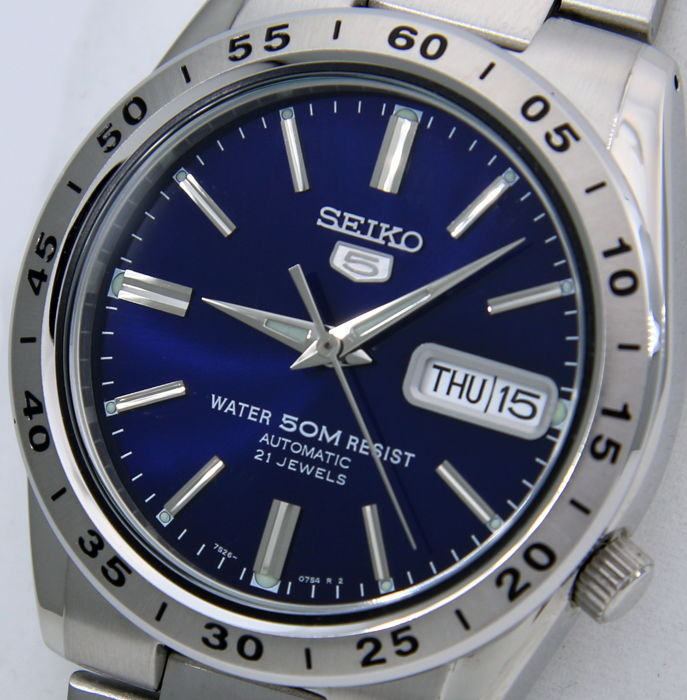 "Seiko - Unisex Automatic 21 Jewels ""Blue Dial"" - - NO RESERVE PRICE - - Unisex - 2018"