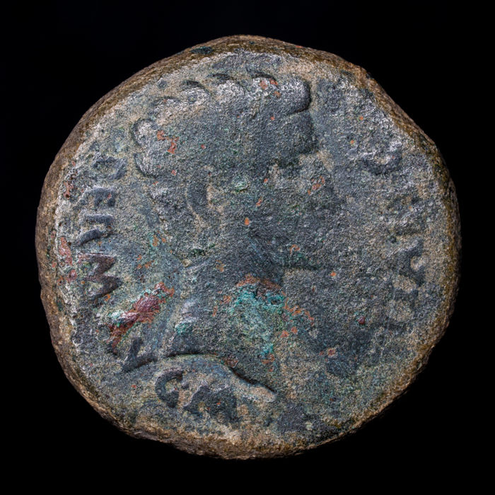 Roman Empire - As  - Augustus (29 BC - 14 AD). Minted in Italica (actual Santiponce, Sevilla). GEN. POP. ROM