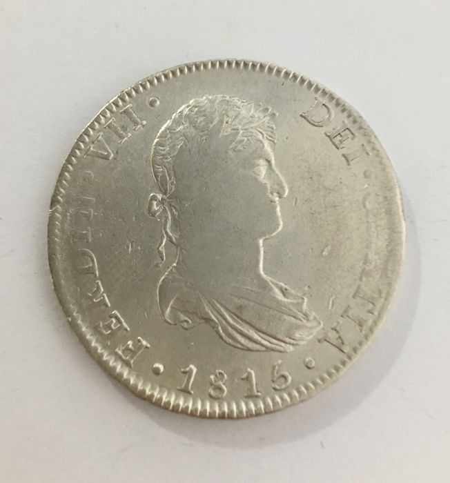 Espagne - 8 REALES Reales 1815 - Argent