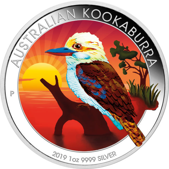 Australië - 1 Dollar Kookaburra 2019 Color Edition - 1 Oz - Zilver