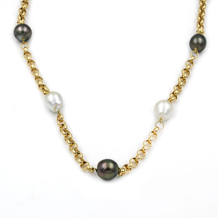 18 ct. South sea pearl - Colier perla