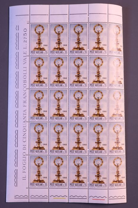 Vatican City 1966/1970 - Batch of sheets/sheet parts in four portfolios
