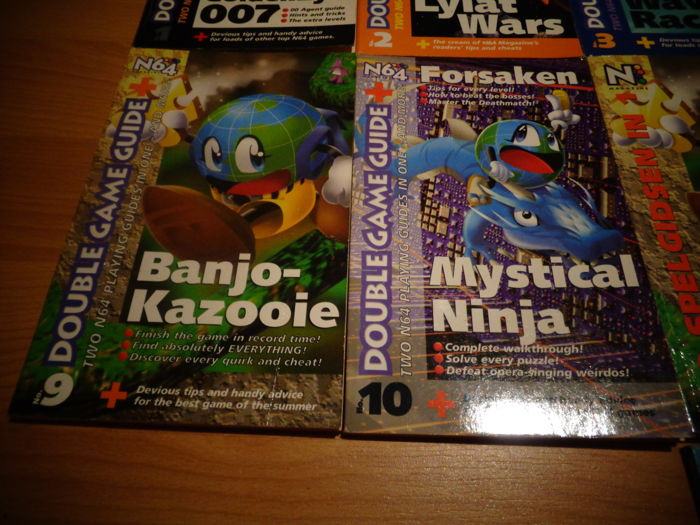 Nintendo64 Manuals, Leaflets and strategy books - N64
