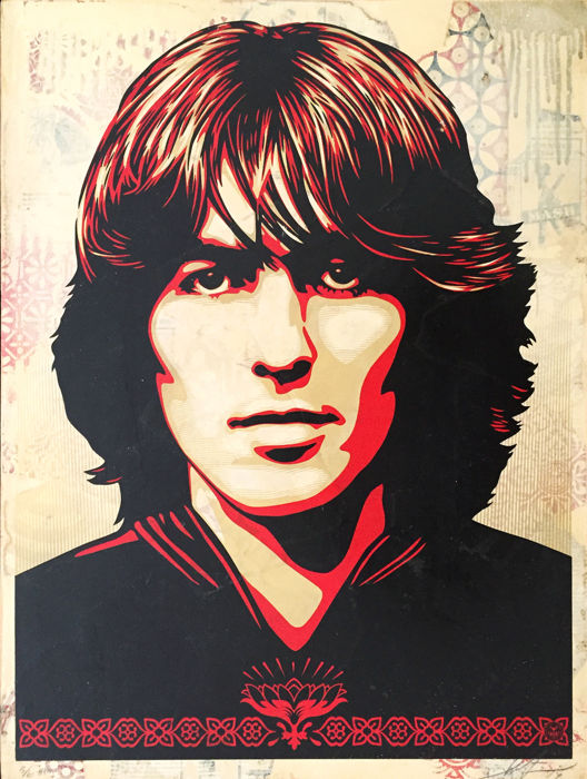 Shepard Fairey (OBEY) - George Harrison - HPM (wood)