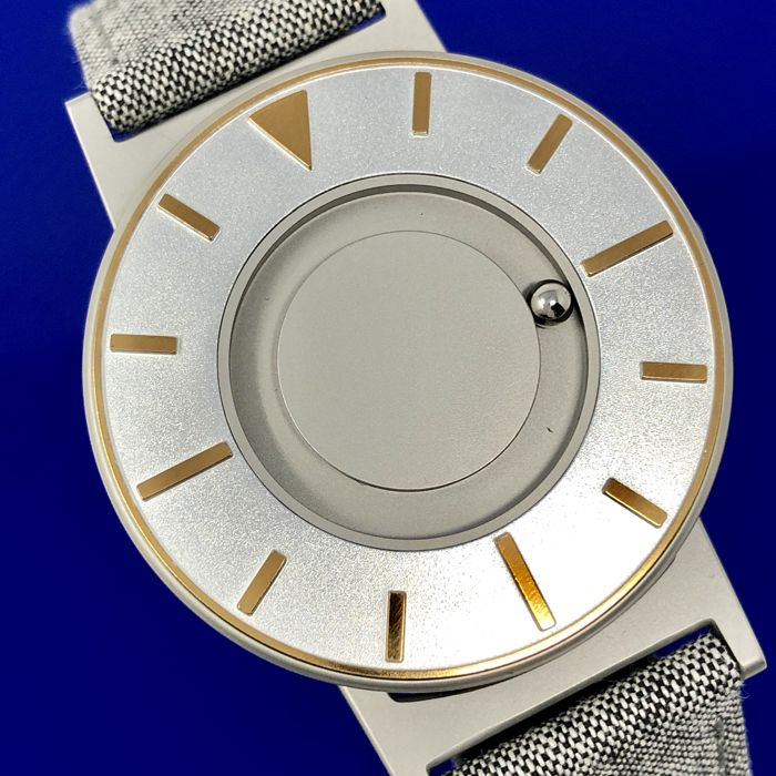 Eone - Bradley Compass Silver and Gold with Canvas/ Leather strap - BR-COM-GOLD  - Unisex - 2011-present