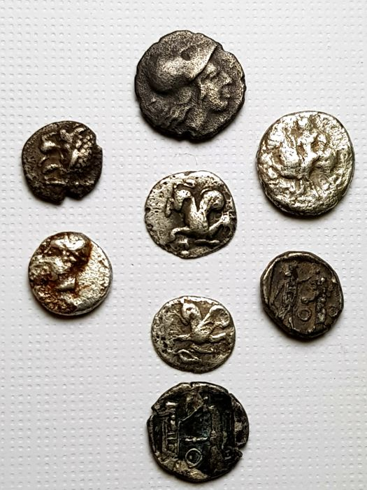 Greece (ancient) - Lot of 8 AR Fractions (various denominations), c. 6th-4th century BC. - Silver