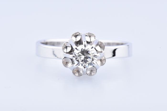 18 quilates Oro blanco - Anillo - 0.35 ct Diamante
