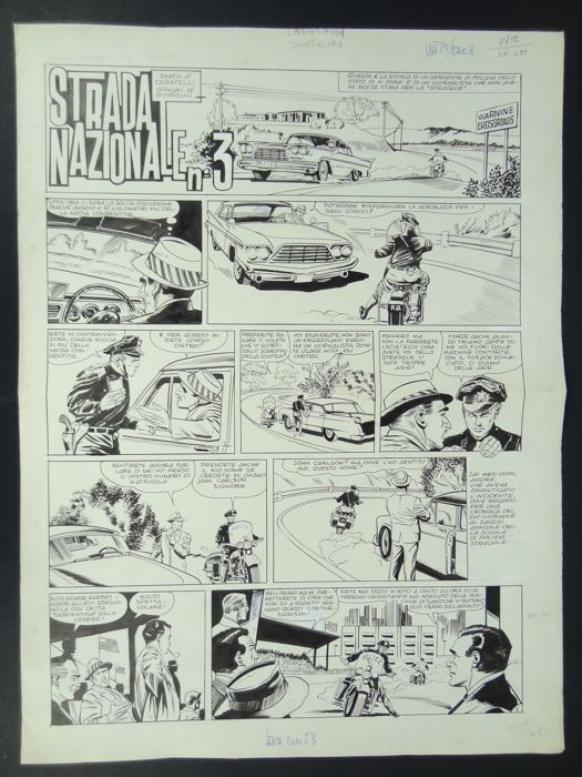 Vittorioso n. 25 - 3x original pages (i-AMF Art Selection) - First edition - (1965)