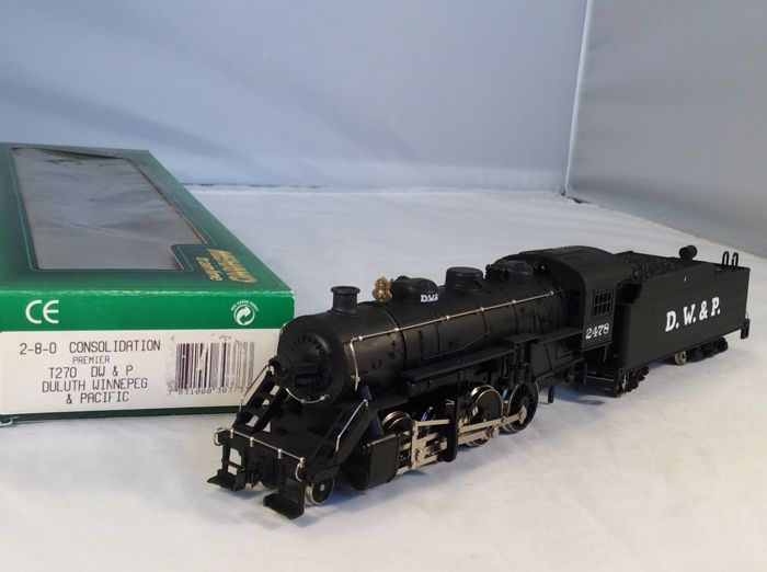 Mehano H0 - T270 - Steam locomotive with tender - 2-8-0-(4246) - D.W. & P.
