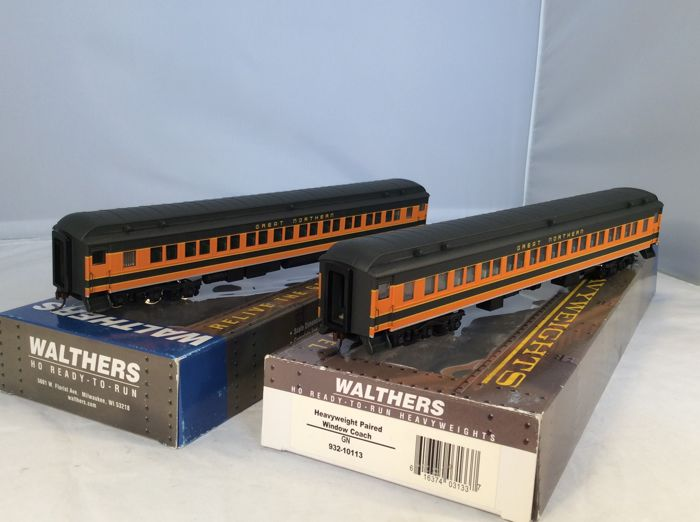 Walthers H0 - 2 x 932-10113 - Passenger carriage - Passenger carriage Set-(4254) - Great Northern