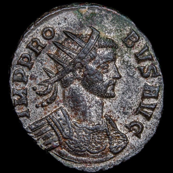Roman Empire - Antoninianus  -Probus (276-282 A.D) Rome mint, 276-282 A.D ADVENTVS AVG  - Silvered