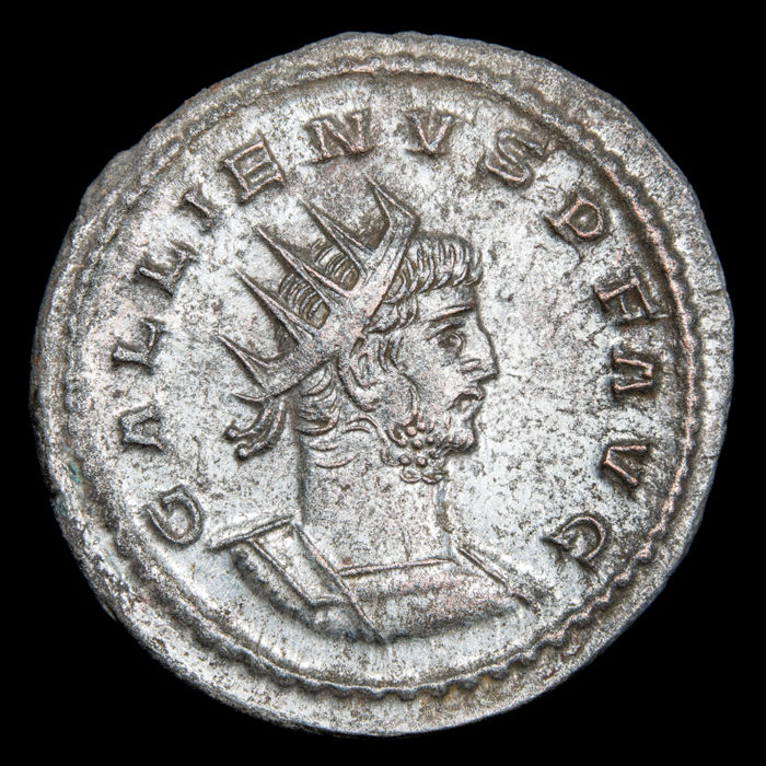 Roman Empire - Antoninianus - Gallienus ( 253-268 A.D) - Antioch mint 260-268 A.D. VIRTVS AVG - Silver