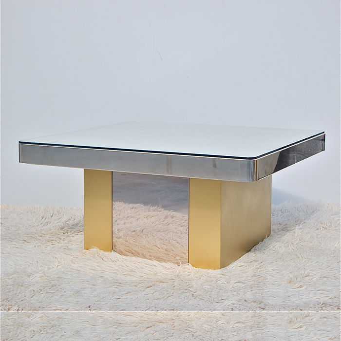 Marble Coffee table with mirrored sides
