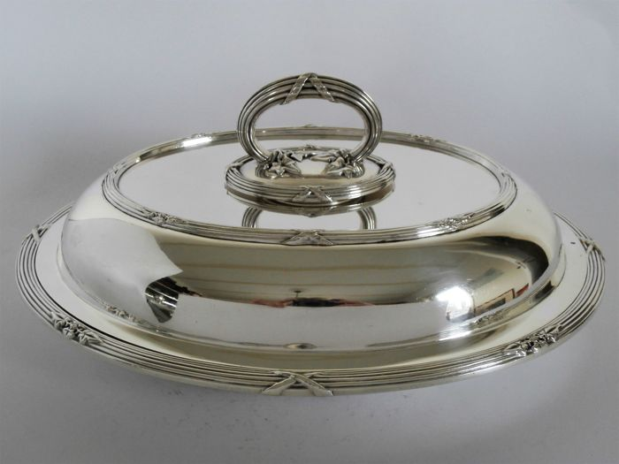 Double serving dish / deck scale - Silverplate - Martin Hall & Co  - U.K. - ca. 1925