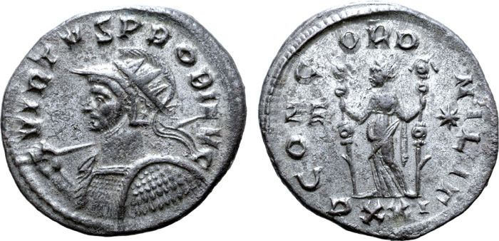 Roman Empire - Antoninianus  - Probus (AD 276-282) - CONCORD MILIT - Billion