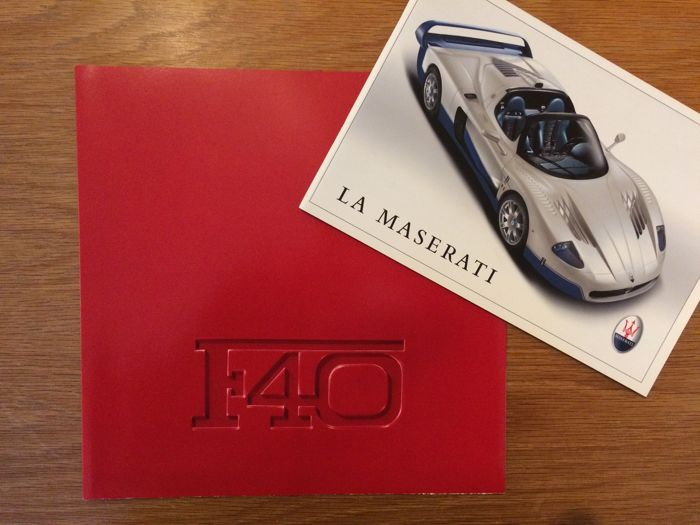 Brochures / catalogues - Ferrari F40 & Maserati  - 1987-2004 (2 items)