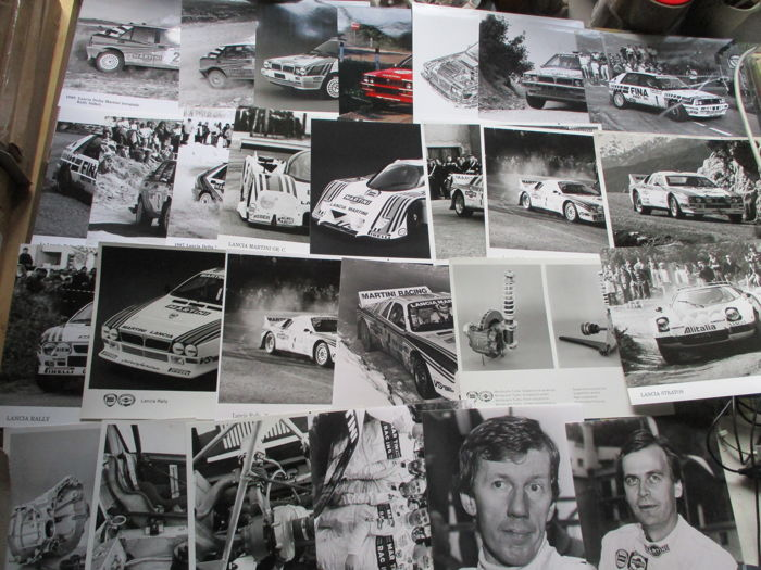 Brochures / catalogues - Lancia - race/rally persfoto's (037/Delta/C-racer/Stratos) - 1980-1990