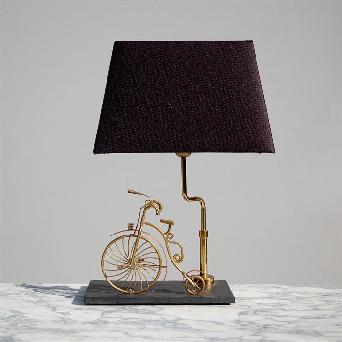 Handcrafted Bicycle Table Lamp
