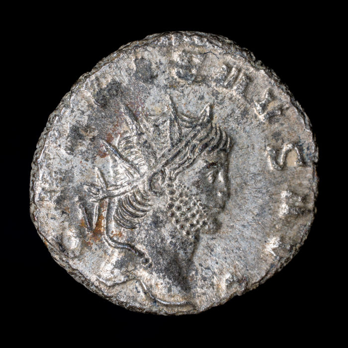 Roman Empire - Antoninianus - Gallienus ( 253-268 A.D) - Rome mint, A.D. 264-265. SECVRIT PERPET / H - silvered bronze
