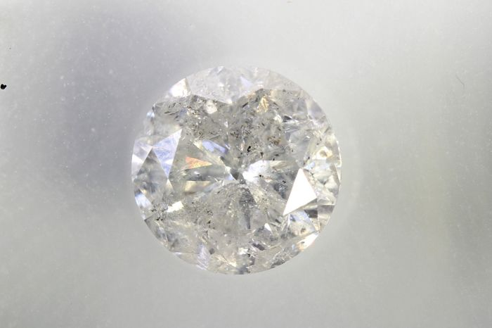 Diamant - 1.00 ct - Briljant - H - P3 - * NO RESERVE PRICE *