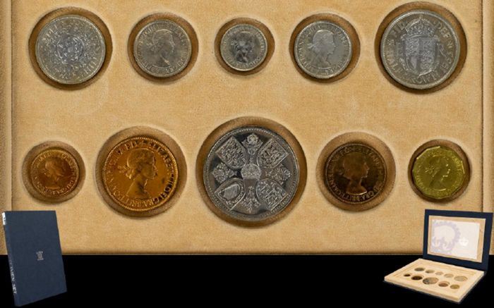 Grande Bretagne - Farthing up to and including Crown 1953 Elizabeth II (10 pieces) in set