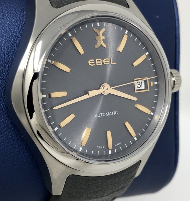 "Ebel - Wave Automatic Gray Galvanic Dial ""NO RESERVE PRICE"" - 1216332 - Heren - BRAND NEW"