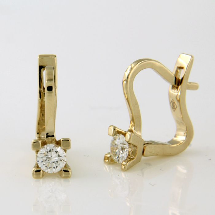 14 quilates - Pendientes - 0.32 ct Diamante