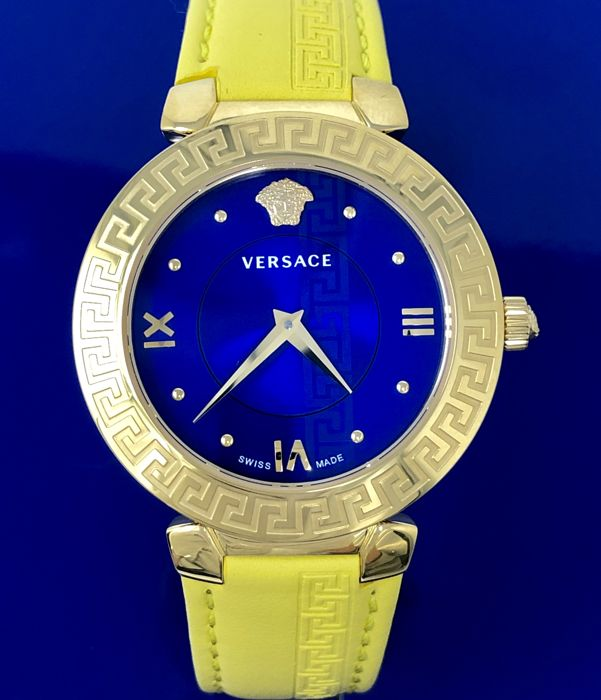 Versace - Pop Art Daphnis Yellow and Blue Swiss Made - V16090017 - Donna - NEW