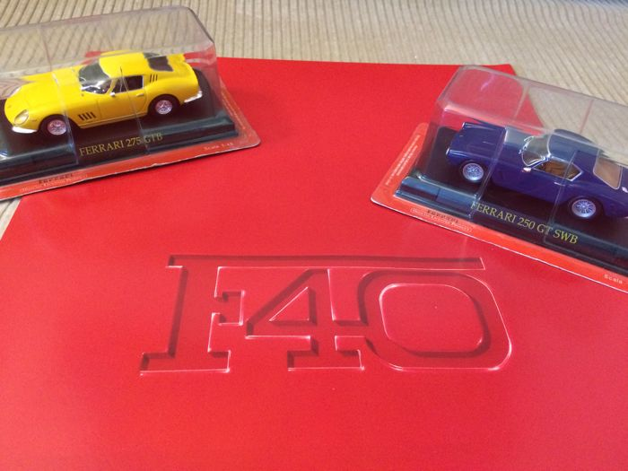 Brochures / catalogues - Ferrari - F40 + modellen 250 GT SWB & 275 GTB (1:43) - 1987 (3 items)