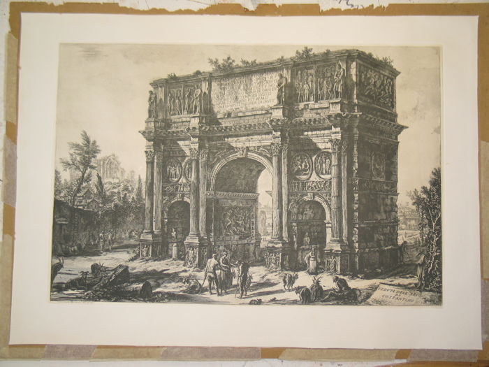 Giovanni Battista Piranesi (1720-1778) - Veduta dell' Arco di Costantino