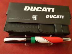 Ducati Corse - rollerball pen - official product in tricoloured leather, new