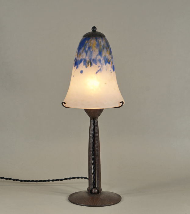 Daum & Vasseur : French 1930 Art Deco lamp