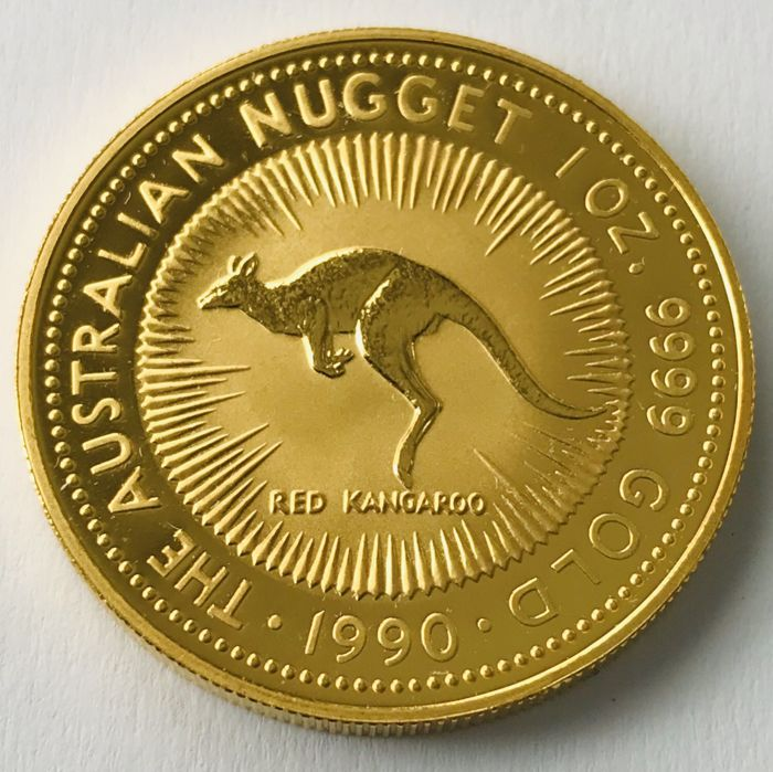 Australia - 100 Dollars 1990 - Red Kangaroo - 1 oz - Gold