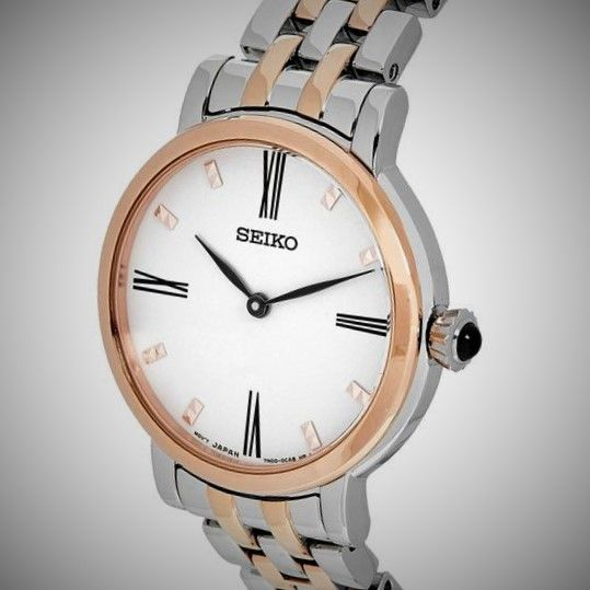 Seiko - Two tone Rose gold plated -  Cartier Design - Blue Cabochon Gem in crown - Dames - 2011-heden