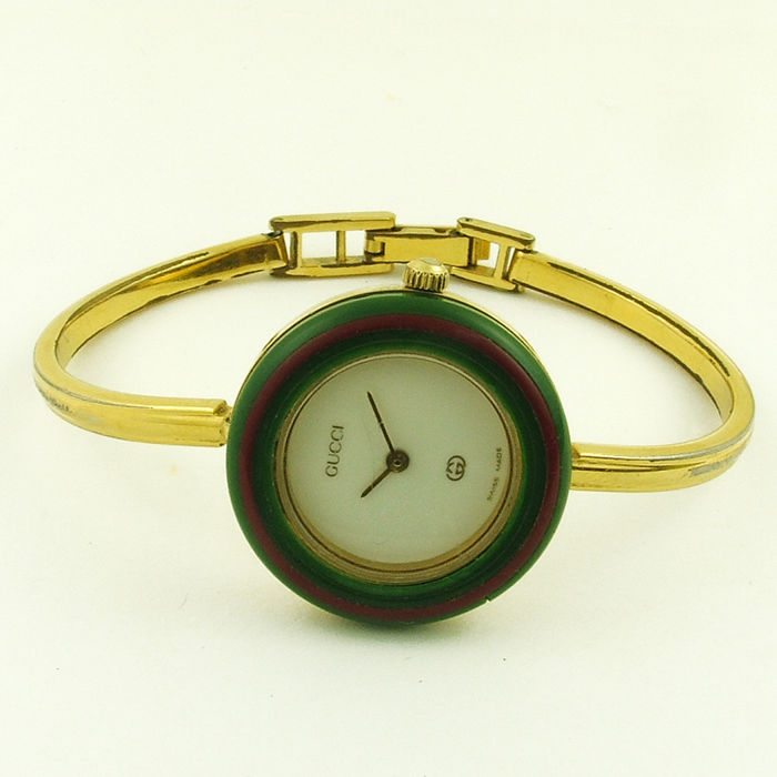 3c67602c72b0 Gucci - 1100-L vintage ladies  watch - Iconic piece from the 1980s - with  rings bezels and original case - Women - 1980-1989